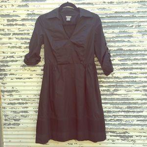 Black Shirt Dress Ann Taylor Size 2