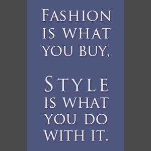 Other - Fashion vs Style