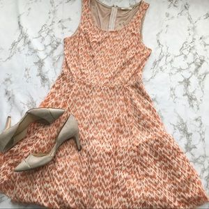 Mystree Anthropologie Lace and metallic Dress
