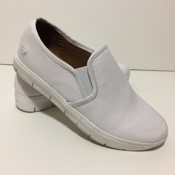Men's Clothing Nurse Mates White Leather Shoes 8.5 Size