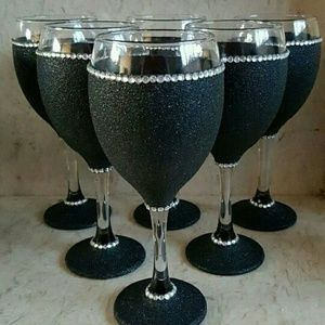 Other - Hand Customize Wine Glasses