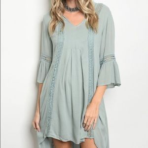 Seafoam Green Boho Hi-Low Tunic