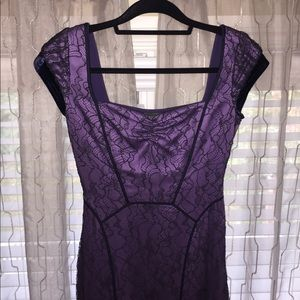 Zac Posen, Purple, Corset, Lace Dress