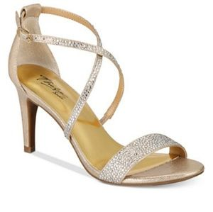 Thalia wide width gold strappy sandals