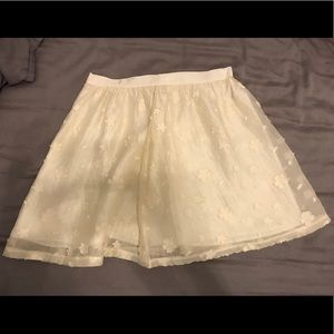 Lush Off-White Cream Mini Skirt size XS