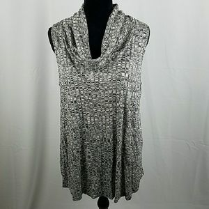 Tops - Brinla women large heather gray sleeveless turtlen