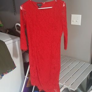 Red lace dress. Worn once!