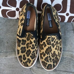 Shoes - XOXO Cheetah Print slides