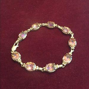 Jewelry - SALE!!  Mystic Topaz 14k Gold Bracelet