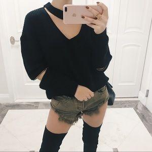• Cara Choker Sweater •