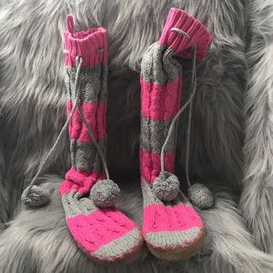 Pink Victorias Secret Shoes Pink Victoria Secret Sweater Booties