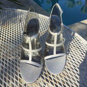 NIB! Adrianna Papell silver high heeled sandals