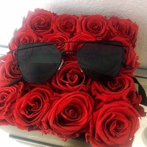 Accessories - Black Cat Eye Mirrored Sunglasses