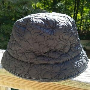 0103f41695e Coach Accessories - Coach Quilted Black Signature C Bucket Rain Hat