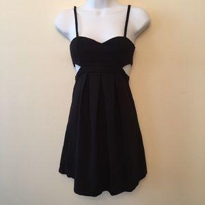 Adorable UO Black Cut Out Skater Dress