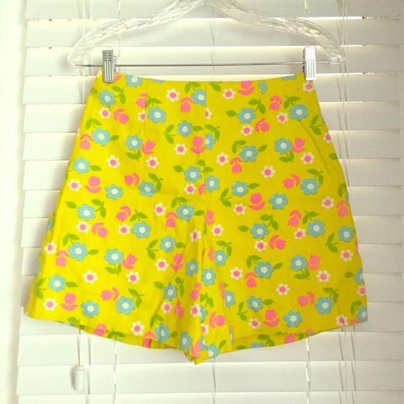 Pale Yellow Femme Culotte Shorts