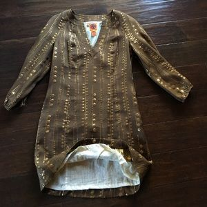 Tory Burch silk tunic dress. Sz 4