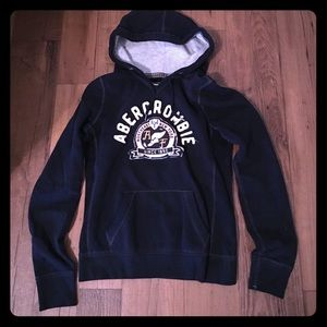 A&F hoodie. Navy blue. Size M. Excellent cond!