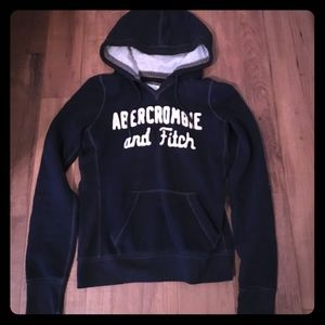 A&F size S navy blue hoodie great cond!