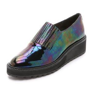 Loeffler Randall Ría Irisdescent Platform Loafers