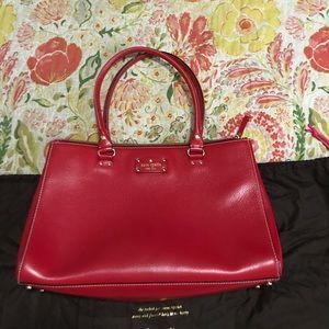 EUC Kate Spade ♠️ large red bag