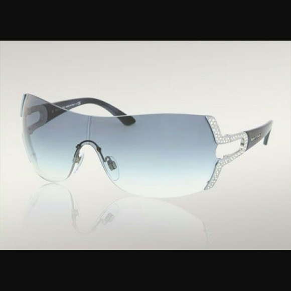 4349c047bf7 Bulgari Accessories - Bvlgari shield style crystal sunglasses