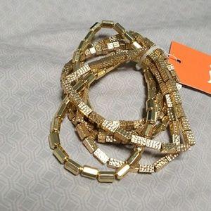 Jewelry - gold bangle bracelet bunch - NWT