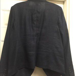Michael Michael Kors 100% Linen navy jacket sz 12