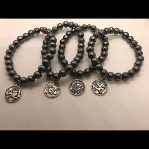 Jewelry - Hematite zodiac charm bracelets