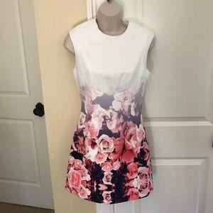 🔴Finders Keepers scuba floral blur mini dress S