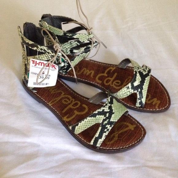 40d019c1bc5d Sam Edelman snakeskin pattern sandals