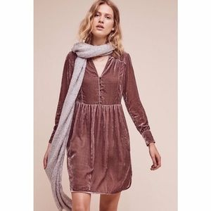 NWT Anthropologie Holding Horses velvet dress
