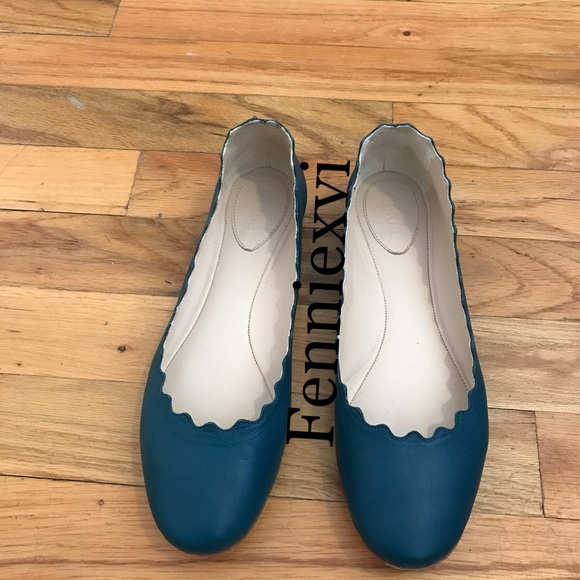 80beb104b Chloe Shoes   Sold Scalloped Leather Ballet Flats 65   Poshmark