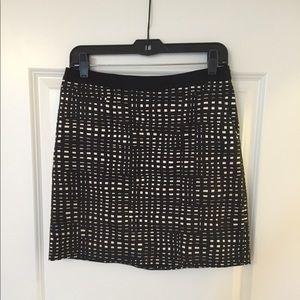 Theory black and white checkered  skirt