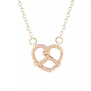 Jewelry - Tiny Gold Pretzel Necklace