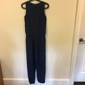 CAbi Pants - Cabi navy tie waist jumpsuit sleeveless playsuit