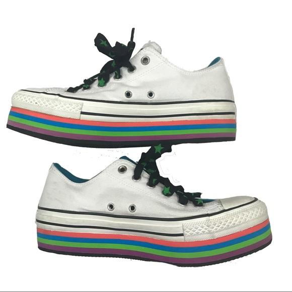 735645fa4cc1 Converse Shoes - Converse all star rainbow platform sneakers
