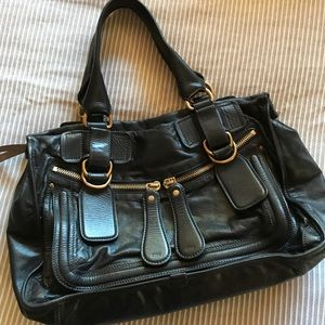 Authentic Chloe Bay handbag black