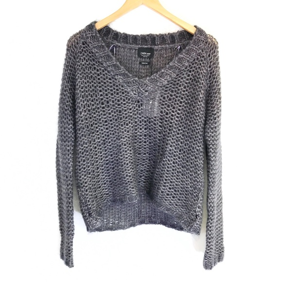 78% off Zara Sweaters - ZARA KNIT purple chunky sweater size small ...