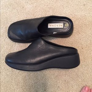 Black Rubber Soled Clogs