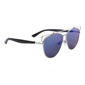 Accessories - Trendy Blue Mirror Aviator Sunglasses