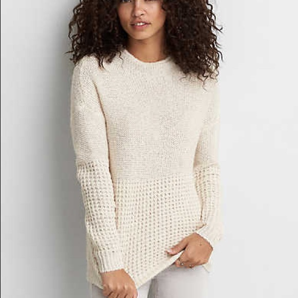 ed7ad9f4a8b7c American Eagle Outfitters Sweaters - AEO Mock Neck Relaxed Jegging Sweater-  Oatmeal