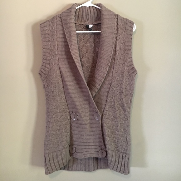 50% off Divided Sweaters - Button-up sweater vest/sleeveless ...