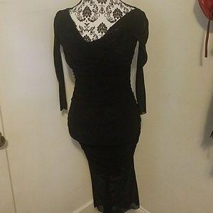 Jean Paul Gautier semi sheer long sleeve dress