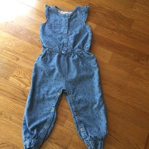 Rosie Pope Baby Nordstrom 24 M Chambray jumpsuit