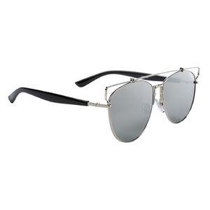 Accessories - Silver Mirrored Aviator Style Sunglasses