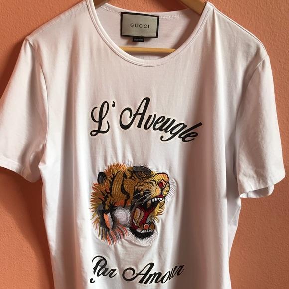 4b511c7d Gucci Shirts | L Aveugle Par Amour T Shirt | Poshmark