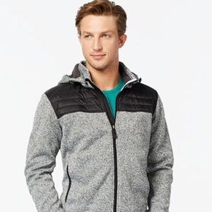 Point Zero Hooded Soft-Shell Fleece Jacket (L)