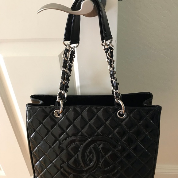 5799db64214 CHANEL Handbags - 💯Authentic Chanel GST black patent leather tote🌹