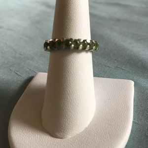 Jewelry - 🌸Peridot Eternity Band in Sterling Silver🌸